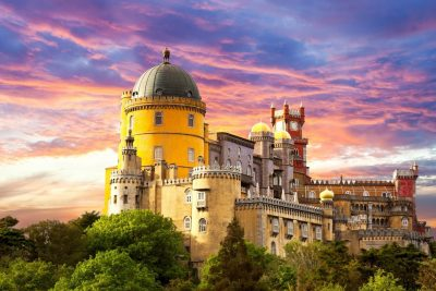 Pena Palace in Sintra. You can visit in our Sintra Tour
